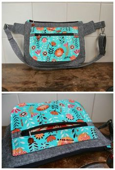 A versatile bag sewing pattern for a bag that fits around your waist or can be slung over your shoulder to wear on your back. Fanny pack sewing pattern. Bum bag sewing pattern. Ideal for keeping cash if you work on a stall at a craft fair etc, or for sewing a bag to take on vacaction or use when sightseeing. Easy bag sewing pattern. #SewABag #SlingBagPattern #BumBagPattern #FannyPackPattern #BagSewingPattern #SlingBagPattern #EasyBagPattern #MoneyBagPattern #CashBagPattern