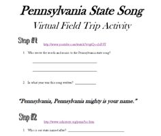 A really great little (free!) worksheet packet for Pennsylvania State Studies