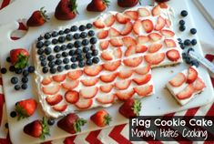 summer cookout desserts, cookie cakes, flag cake, flag cookies, cooki cake, cookie dough, american flag cookie cake, american dessert, cookout recip