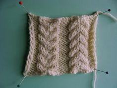 Felted Treasures: Sunday Morning Knit Wit ~ Double Cable