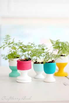 paint-dipped egg cups
