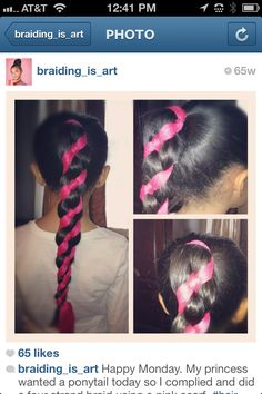 Four-strand striped braid