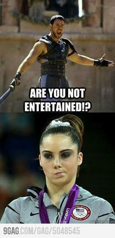 McKayla is Not Impressed or Entertained.