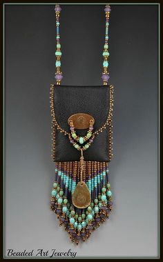 ☮ American Hippie Bohemian Style ~ Boho Beaded Jewelry Necklace