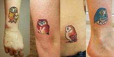 Sasha unisex owls tattoo