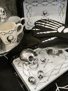 Skull kitchen collection #home #decor #skull #goth #morbid #halloween... Ha I own about half of these items.
