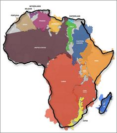 wow. | The true size of Africa