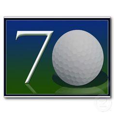 Happy 70th Birthday for golf nut Postcard
