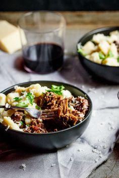 {Beef ragu with parmesan gnocchi.}