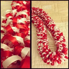 Puffy Ribbon Leis for Grad