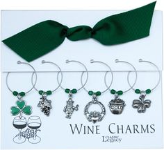Wine Charms with Irish theme