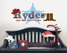 Western Cowboy Nursery Wall Decal. $38.00, via Etsy.