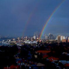 Rainbows over Sydney