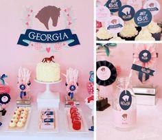 Preppy Pony themed birthday party via Kara's Party Ideas KarasPartyIdeas.com Printables, cake, cupcakes, decor, supplies & more! #ponyparty #partyideas #partydecor (1)