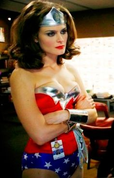 Bones' Temprance as Wonder Woman