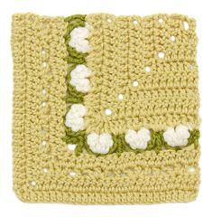Crochet Floral Block: Crocus