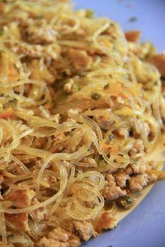 Spaghetti di soia con maiale e verdure - Le Ricette dell'Amore Vero