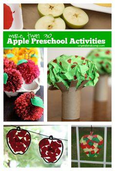 more than 30 apple preschool activities