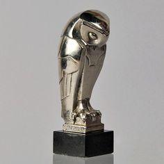 Early 20th century art deco owl by Édouard Marcel Sandoz