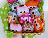 lovely plush mini owl, choose any color