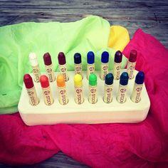Waldorf Beeswax Wood Crayon Holder - Natural Toy - Art Supplies - Montessori - Homeschool - Homeschooling. $19.95, via Etsy.