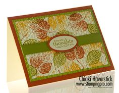 French Foliage. Fall Card. CAS.