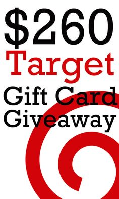 $260 Target Gift Card Giveaway Ends 10/4