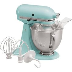 blue collect, red kitchen, aqua sky, stand mixer, future house