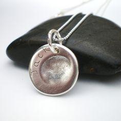 Personalized Silver Fingerprint Jewelry