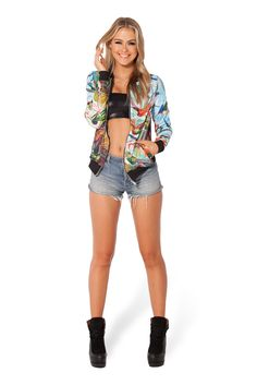 Birds In Paradise GF Bomber by Black Milk Clothing $100AUD