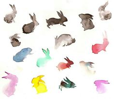Love the idea of a watercolor bunny tattoo on my foot...this would be an awesome  small, subtle piece of art
