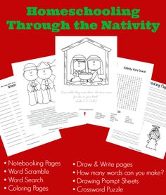 holiday, homeschooling, free unit studies, nativ free, christma idea, intoxicatedonlifecom, nativity