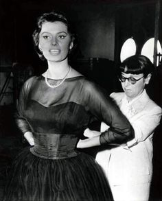 Sophia Loren and Edith Head