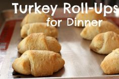 Turkey Roll-ups for Dinner makeandtakes.com #dinner #turkey