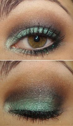 green eyeshadow for brown eyes, eye makeup, brown hair green eyes makeup, color combos, eye colors, turquoise eyeshadow, mac makeup eyeshadow, beauti, mac eyeshadow for hazel eyes