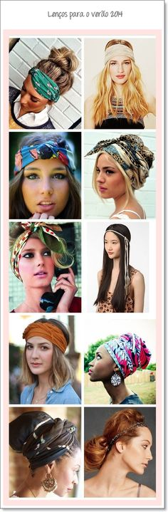Dicas de como usar lenço na cabeça verão 2014
