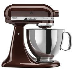 KitchenAid Espresso Artisan Stand Mixer at Sur La Table product, artisan stand, stand mixer, burnish brown, espresso brown, color espresso, brown kitchenaid artisan mixer, sur la, thing