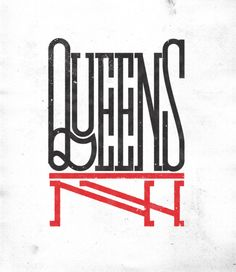 Typeverything.com -  New print in shop: QueensNY, by @AndreiRobu.