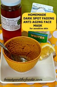 DIY Spot Diminishing Anti-Aging Face Mask