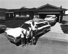 suburbia. bill owens. 1972. Just put a tent trailer behind the 1967 Ford Country Squire