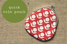 Quick coin pouch- sewing project #sew #gift #coin