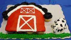 Barn Cupcake cupcak cake, mini cake, barn cupcakes, barn cake, barns, barn cupcake cake, cupcake cakes, cupcak design