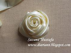 Ribbon rose  Tutorial tutorials, bordado da, ribbons, roses, everlast flower, fita, rose bud, ribbon embroideri, embroidery