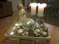 White and silver chrismas decoration