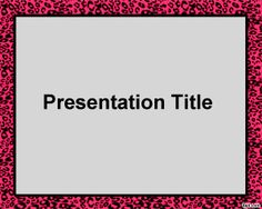 Cheetah Frame PowerPoint Template is a free frame for Power Point presentations with a cheetah design border