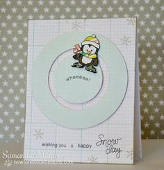 Another cute interactive card with the penguin—a spinner card!