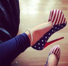 I <3 america + heels :)