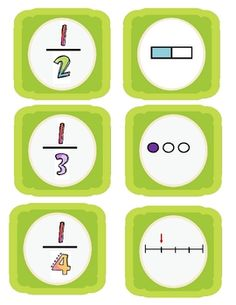 Here's a nice set of cards to play fraction concentration.