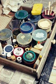 floor cloth, leftov paint, hous paint