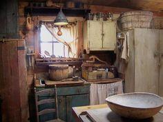 very primitive kitchen photos | Primitive Kitchens♥